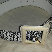 Escada Leather/patent Leather Floral Belt Photo