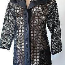 Escada Luxurious Embrolered Black Blouse Size 38 Photo