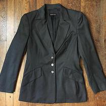 Escada Luxury Gray Wool Designer Womens Jacket Button Blazer Lined Sz 38 M Us 8 Photo