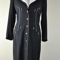 Escada Margareta Ley Knee-Length Black and White Vintage Dress/jacket  Size 40 Photo