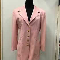 Escada Margaretha Ley 100% Wool Pink Blazer Hearts Euro Sz 40 Us 10 Photo
