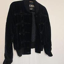 Escada Margaretha Ley Black Velvet Jacket 42 (12) Photo