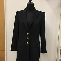 Escada Margaretha Ley Black Wool Blend Fully Lined Blazer Jacket Euro 38 Us 8 Photo