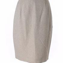 Escada Margaretha Ley Gray Wool & Silk Tweed Straight Pencil Skirt Sz 34 Us Sz 2 Photo