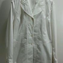 Escada Margaretha Ley Women's White Dress Shirt - Size European 40 Photo