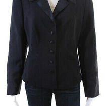 Escada Margaretha Ley  Womens Button Down Blazer Black Size 42 Photo