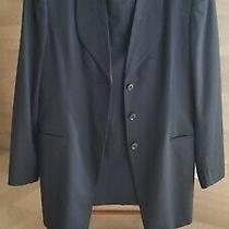 Escada Margaretha Ley Wool Black Suit Blazer Jacket 42 Skirt 40 Germany Used Photo
