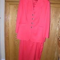 Escada Melon Like New Skirt Suit - Size 44 Photo
