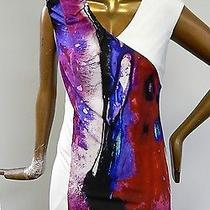 Escada Multi Colored Stretch Painted Dress  Photo