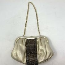 Escada Nappa Leather Swarovski Embellished Clutch/bag W/shoulder Strap Gold Photo