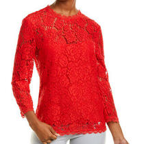 Escada Neelenas Top Women's Red 36 Photo