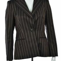 Escada Neiman Marcus Womens Blazer Size 38 6 Brown Career Jacket Photo