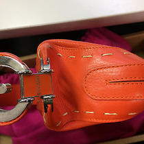 Escada Orange Leather Small Shoulder Bag Photo