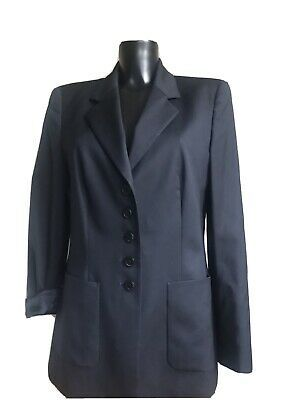 ESCADA Pure New Wool Navy Blazer Jacket Size 40 Photo