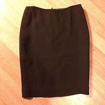 Escada Pure Silk Black Pencil Skirt 38  Photo