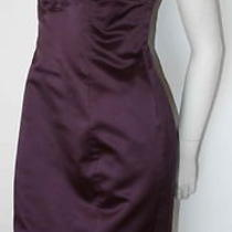 Escada Purple Corset Strapless Cocktail Dress New 40 8 Photo