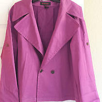 Escada Purple Cotton Jacket Photo
