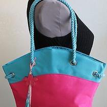 Escada Purse Shoulder Bag Pink Light Blue Beach Nautical Rope New Free Shipping Photo