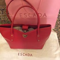 Escada Red Leather Purse Photo