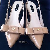 Escada Rose Quartz Slingbacks New With Box Size 36/6 Photo