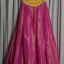 Escada Sequin and Paillette Taffeta Gown Size 42 Photo