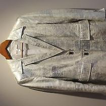 Escada Silver Antique Leather Jacket Photo