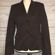 Escada Sport Brown Blazer Sz 38 Buttons Tie Back Bow Style Us Medium / Us 8 Photo