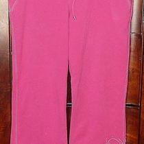 Escada Sport Hot Pink Cotton/spandex Sport Pants W/applicated Flower-L Photo