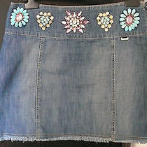 Escada Sport Jeweled Jeans Skirt - Size 36 Photo