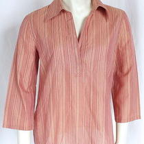 Escada Sport  Multi Color v-Neck Collared Casual Blouse Top Shirt Sz 6 Photo