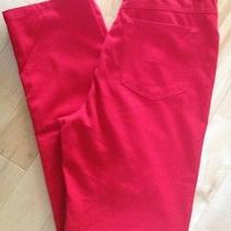 Escada Sport Pants Jeans Red 5 Pocket Style Womens European Size 38us 8 Photo