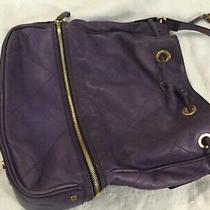 Escada Sport Purple Leather Shoulder Handbag Purse Bag Photo