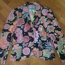 Escada Sport  Trendy Printed Blazer Sz 40 Photo