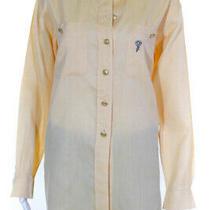 Escada Sport Womens Cotton Long Sleeve Collared Button Down Shirt Yellow Size S Photo