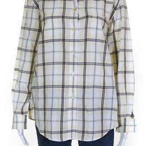 Escada Sport Womens Cotton Long Sleeve Plaid Button Down Shirt Yellow Size S Photo