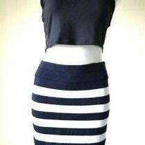 Escada Stripped Skirt 100% Cotton - Size Medium Photo