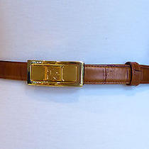 Escada Tan Alligator Belt - 31