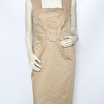 Escada Tan Camel Ruched Cotton Cocktail Party Dress Sz 38 Us 8 Nwt 1490 Photo