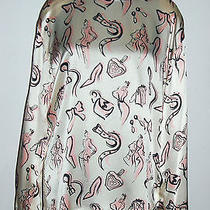 Escada Vintage Blouse Fashion Purse Perfume Pink Shoes Belt Bow Earrings 38 8 Photo