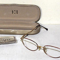 Escada Vintage Eyeglass Frames With Case and Cleaning Cloth Lightning Bolt Arms Photo