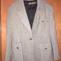 Escada Vintage Rare Dice Blazer 12 Very Unique Photo