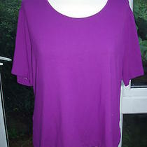 Escada Violet Stretch Top New 46 16 Photo