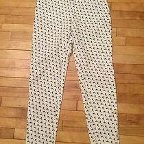 Escada White Skinny Jeans With Navy Dolphin Print Size 40 Photo