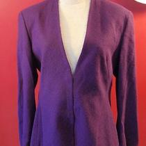 Escada Women's 44 Purple Soft Rabbit Blazer Jacket Made in Italy Photo