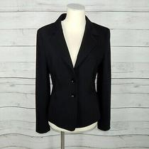 Escada Women's Black Wool Blazer Jacket Size 38 Medium M  Photo