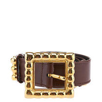 Escada Womens Brown Leather Belt Photo