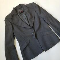 Escada Women's One Button Blazer Herringbone Wool Size 38 425 Photo