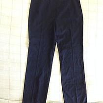 Escada Women's Pants Size Small/ 34 Navy Color Light Feel Like Linen New Wool Photo