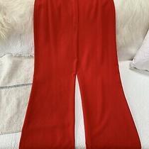 Escada Women's Red Virgin Wool Pants.  Gorgeous Size 38 Light Weight. Photo