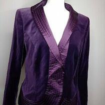 Escada Women's Size 40 Long Sleeve v-Neck Purple Casual Blazer 2274 Photo